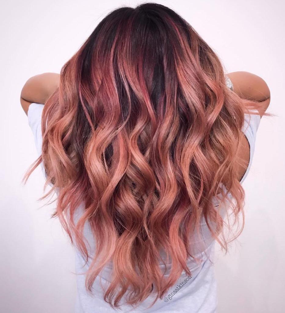 Rose gold ombrè il colore più chic del momento